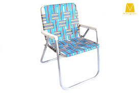 Fabric Outdoor Chairs Vintage Aluminum Folding Webbed Lawn Chair Melon Lawn Vintage