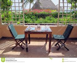 Restaurant Patio Dining Table Royalty Free Stock Photography