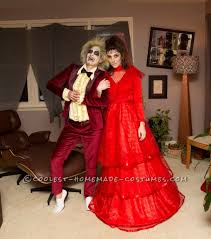 grinch halloween costumes lady couple beetlejuice and lydia homemade costumes homemade