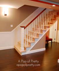 Laminate Flooring On Steps Painted Basement Steps With Board And Batten Basement Stairs Ideas