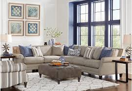 Piedmont Gray  Pc Sectional Living Room Living Room Sets Gray - Living room sectional sets