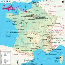 A Map Of France by Map Of France Honfleur Travel