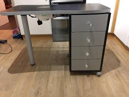 nail technician table station with extractor fan in banbury