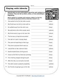 with adverbs free printable adverb worksheets - Adverb Lessons