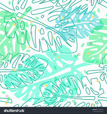 tropical wrapping paper tropical pattern palm leaves vector seamless stock vector