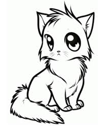 coloring luxury cute kitty drawings animals gif coloring