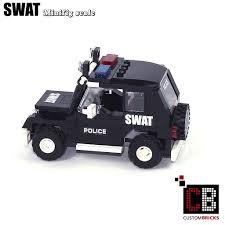 lego police jeep custombricks de custom modell moc city swat special order