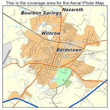 kentucky map bardstown aerial photography map of bardstown ky kentucky