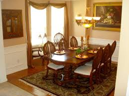 best custom dining room with abstract painting also arranged