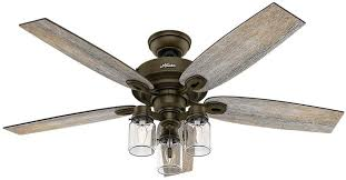 hunter crown canyon ceiling fan hunter 52 inch indoor bronze ceiling fan blades arms paddles rustic
