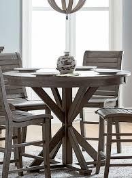 progressive furniture willow counter height dining table progressive furniture willow distressed dark gray round counter