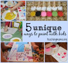 unique ways to paint with kids