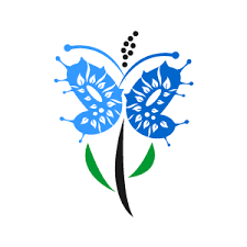 flower clipart blue butterfly flower march 2013 with white