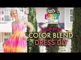 how to color blend dress with tulip colorshot youtube
