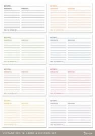 printable recipe cards 4 x 6 printable recipe card with divider 4x6 editable pdf recipe cards