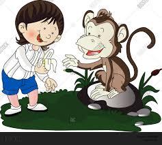 vector giving banana monkey vector u0026 photo bigstock