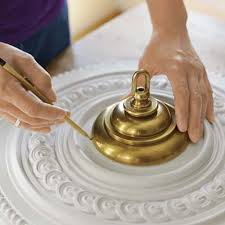 What Size Ceiling Medallion For Chandelier How To Install A Ceiling Medallion Ceiling Medallions Ceilings