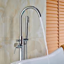 votamuta new chrome polished floor mounted bathtub shower faucets