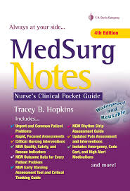 medsurg notes nurse u0027s clinical pocket guide tracey hopkins rn