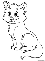 cute baby wolf coloring pages printable
