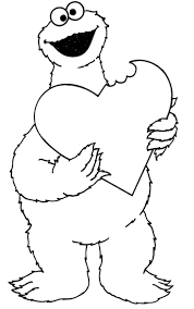 baby cookie monster coloring page free download
