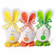 Easter Decorations Eggs by Aliexpress Com Buy 3pcs Lot Easter Egg Rabbit Gift Ornament