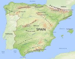 physical map of spain spain maps by freeworldmaps net