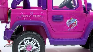 power wheels jeep frozen 8801 95 my little pony 6v 4x4 product video youtube