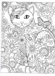 cat abstract doodle coloring pages colouring detailed