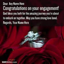 wedding engagement congratulations congratulations wishes with names