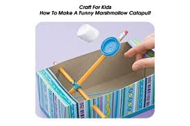 how to make a funny marshmallow catapult craft for kids