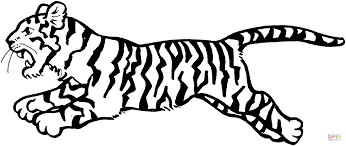 tiger jumps coloring page free printable coloring pages