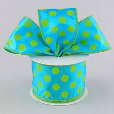polka dot ribbon 2 5 big polka dot ribbon turquoise blue lime green 10 yards