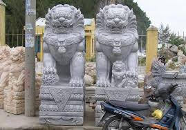 foo dog sculpture marble foo dog temple lion fu dog statue carvings ngochoa249