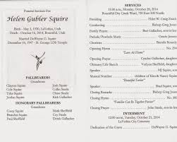 sle of funeral programs squire stalk
