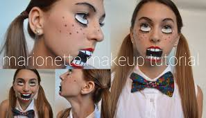 marionette makeup tutorial halloween 2013 youtube