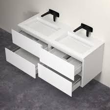 Stone Basin Vanity Unit Double Vanity Units Double Basin Vanity Units Twin Sink Units Tap
