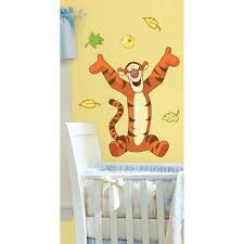 18 in x 40 in winnie the pooh tigger 11 piece peel and stick winnie the pooh tigger 11 piece peel and stick giant wall decal us mexico russia rmk1500gm the home depot