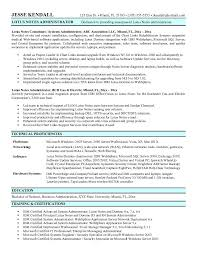 Admin Resume Samples by Download Lotus Notes Administration Sample Resume
