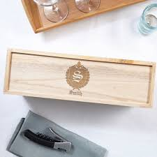 personalized box monogram personalized wood wine box