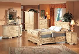 King Size Bedroom Furniture With Marble Tops B1008 6 Pcs Providence Sleigh Bedroom Set W Chest Antique Beige