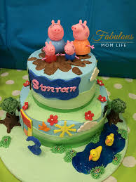 peppa pig birthday cakes peppa pig birthday cake with muddy puddles fabulous