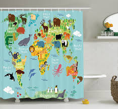 Ikea World Map Curtain Map Shower Curtain Map Fabric Shower Curtain Ikea