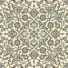 Tribal Print Wallpaper by Stylized Flowers Oriental Wallpaper Retro Seamless Abstract