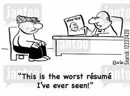 Worst Resumes Ever Wanted Criminal Cartoons Humor From Jantoo Cartoons