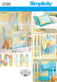 Crib Bedding Pattern 3795 Home Decorating Nursery Quilt Bumpers Sheet Dust Ruffle