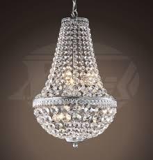 Chrome Crystal Chandelier by Odelia 6 Lights Symmetric Optical Glass Crystal Chrome Chandelier