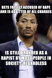 Rape Meme - i stand with derrick rose false accusations of rape should never