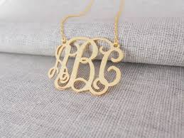 monogram initials necklace large monogram necklace goldvine monogram initial
