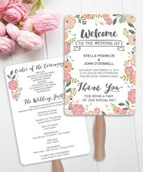 vintage wedding programs wedding fan programs diy printable vintage wedding